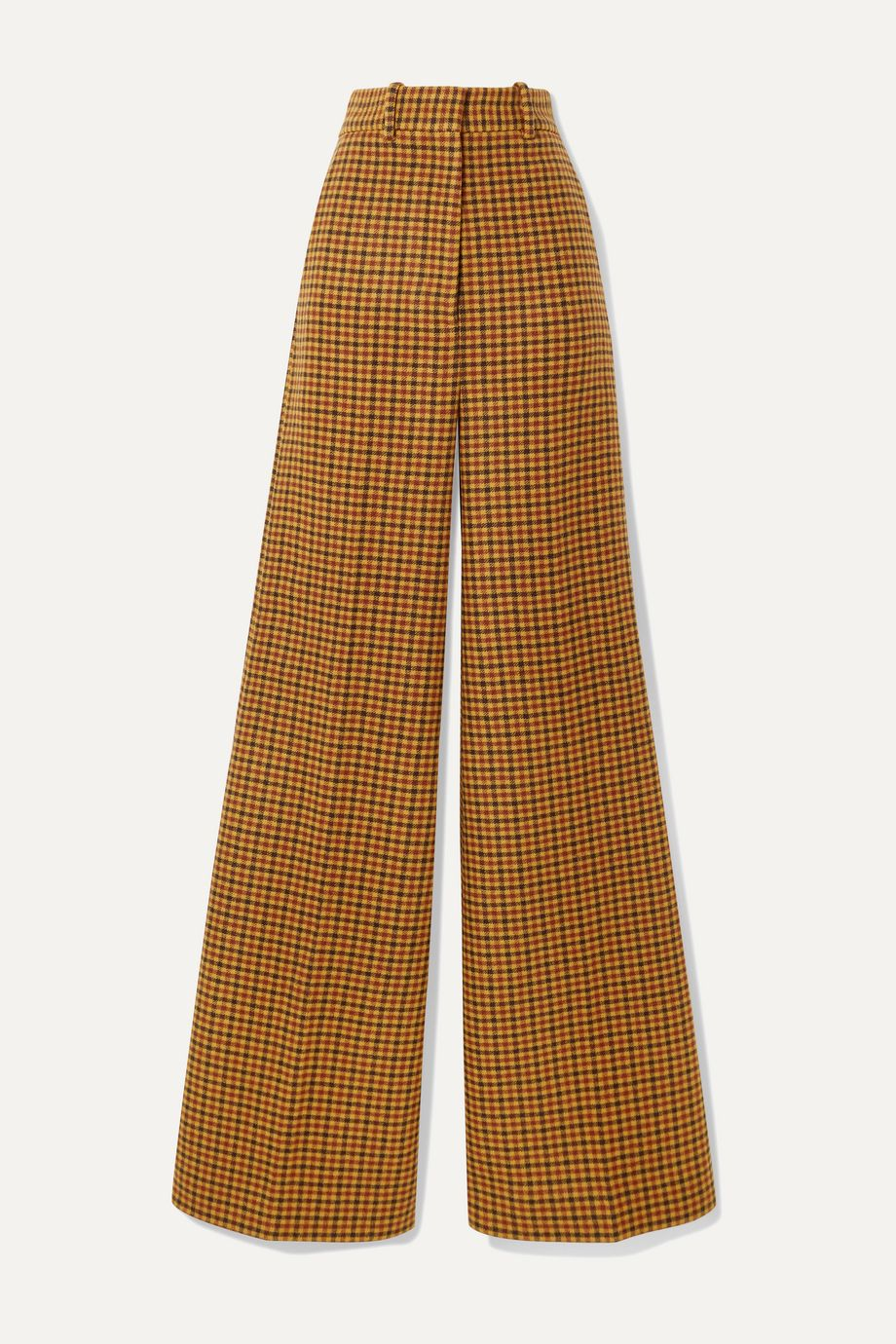 Khaite Bernadette checked wool wide-leg pants