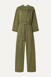 SEA Scout belted cotton-blend jumpsuit