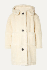 SEA Sonnet oversized hooded faux shearling coat