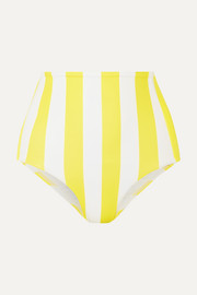 VerdeLimón Banes striped bikini briefs
