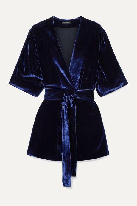 Navy Velvet robe | Kiki de Montparnasse 4AqtPo