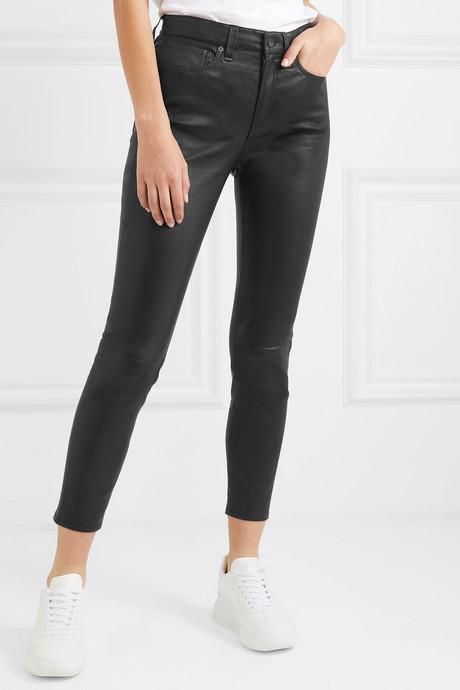 Nina cropped skinny leather pants