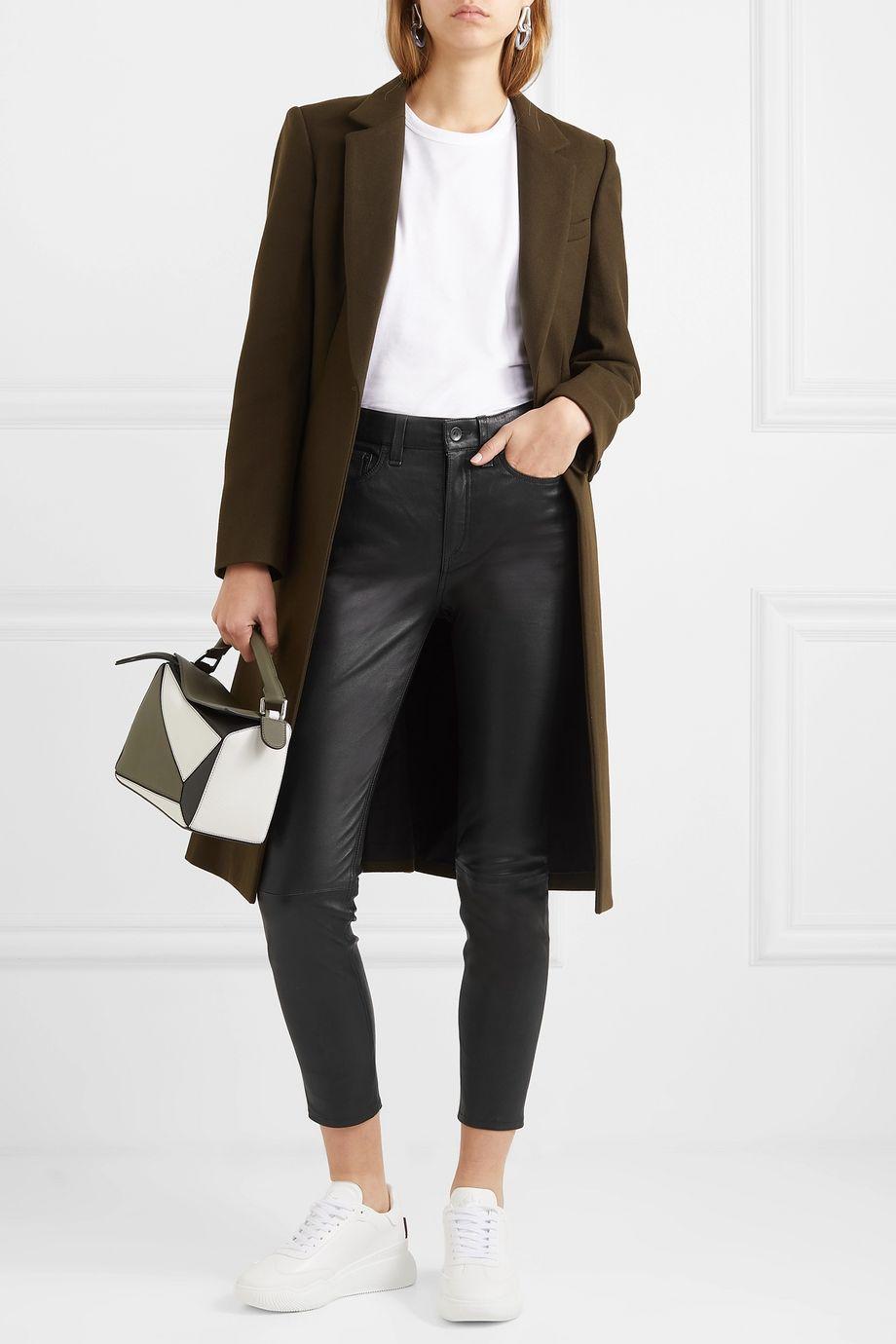 rag & bone Nina cropped skinny leather pants