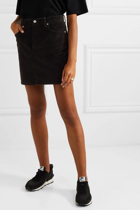 Hayden stretch-cotton corduroy mini skirt