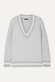 rag & bone Theon oversized striped cable-knit merino wool sweater