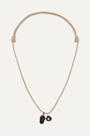 Dezso by Sara Beltrán Leather multi-stone necklace