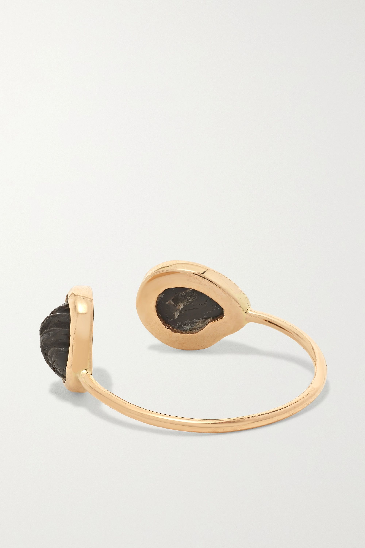 Dezso by Sara Beltrán 18-karat rose gold coral ring