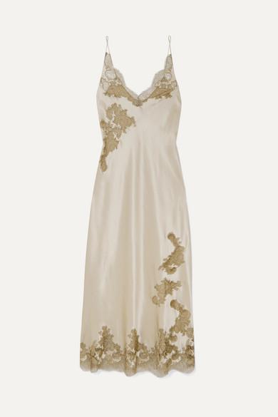 c06ffc0403b75 Carine Gilson | Chantilly lace-trimmed silk-satin chemise | NET-A ...