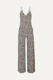 Jumpsuit aus Stretch-Jersey mit Leopardenprint