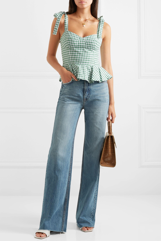 GRLFRND Carla high-rise flared jeans