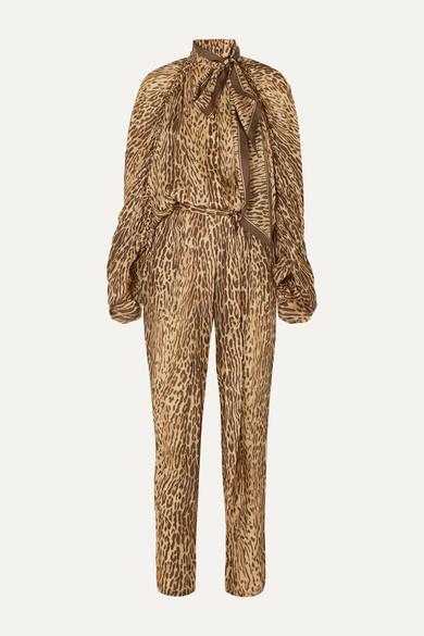 Zimmermann Suits Espionage leopard-print silk jumpsuit