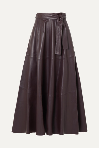 Resistance Leather Midi Skirt by Zimmermann