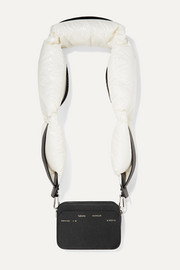 + 2 Moncler 1952 Valextra Dado shell down and leather shoulder bag