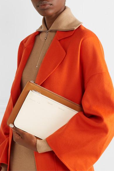 Moncler Genius Shoulder + 2 Moncler 1952 Valextra leather and shell down shoulder bag