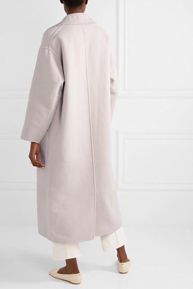 Oversized Double Breasted Wool Coat by Mansur Gavriel