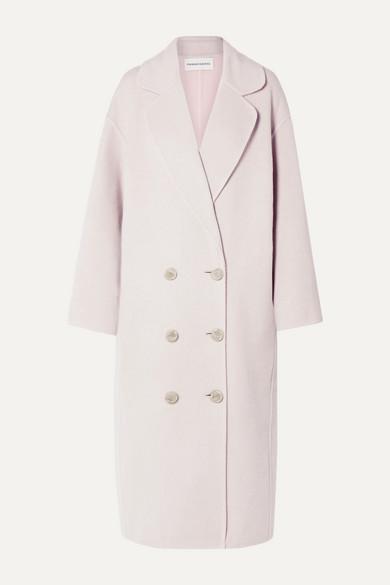 Mansur Gavriel Oversized Double-breasted Wool Coat In Blush