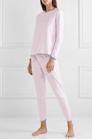 4b4e23f080 Sleepy Jones | Brigitte striped cotton-jersey pajama set | NET-A ...