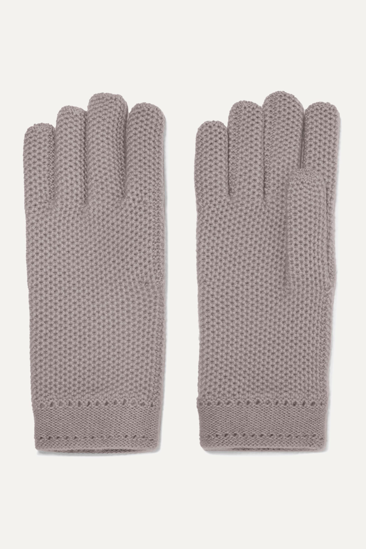 Loro Piana Crocheted cashmere gloves