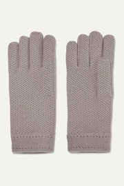 Crocheted cashmere gloves