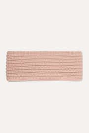 Ribbed cashmere headband