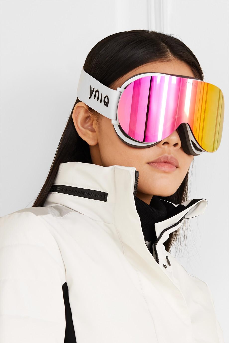 YNIQ Model Two mirrored ski goggles