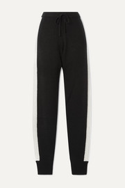 Tic Toc cable-knit cashmere track pants