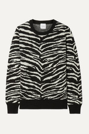 Doc zebra-intarsia wool and cashmere-blend sweater