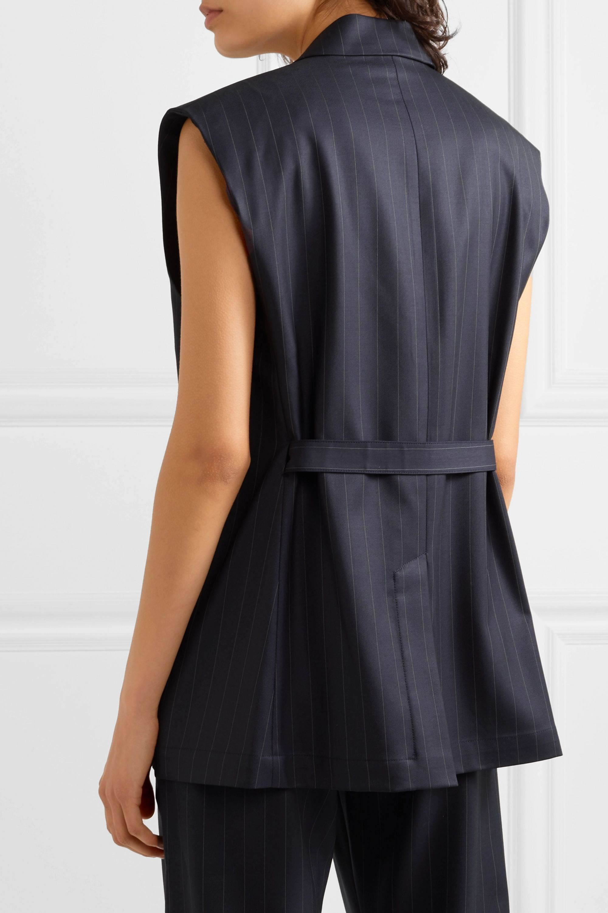 Wright Le Chapelain Pinstriped wool vest