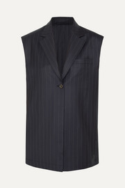 Pinstriped wool vest