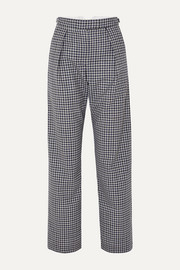 Wright Le Chapelain Checked wool wide-leg pants