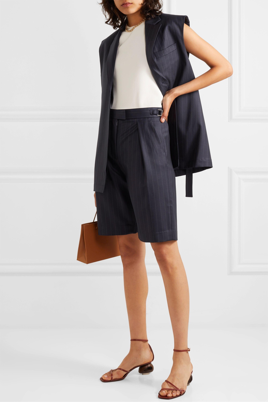 Wright Le Chapelain Shorts aus Wolle mit Nadelstreifen