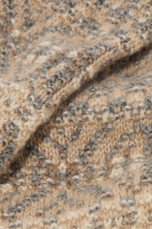 Loro Piana 费尔岛式杂色图案针织羊绒露指手套