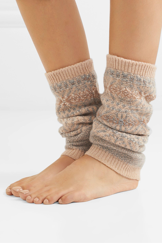 Loro Piana Fair Isle cashmere ankle warmers
