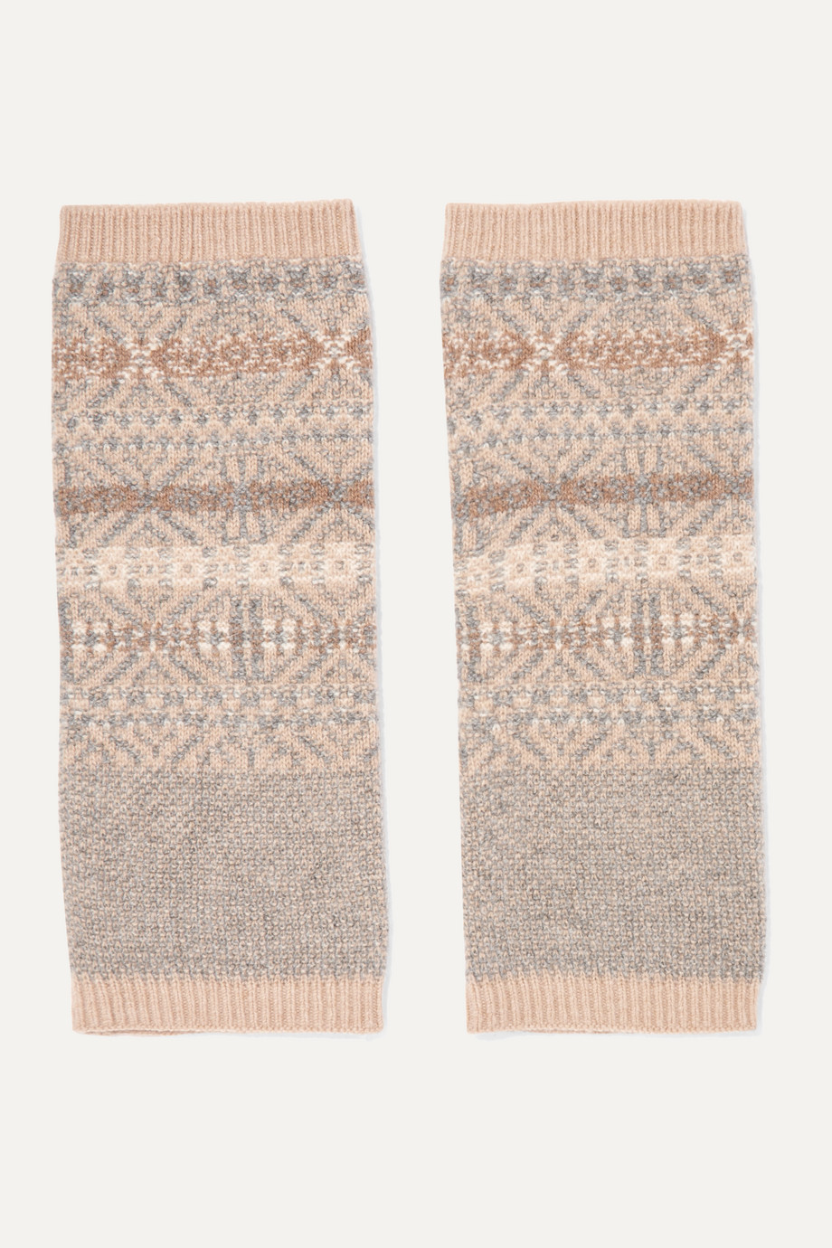 Loro Piana 费尔岛式杂色图案针织羊绒袜套
