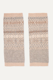 Fair Isle cashmere ankle warmers