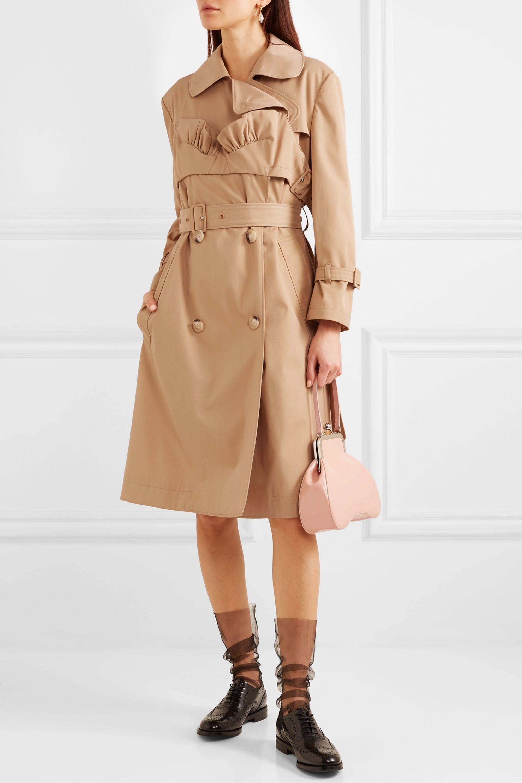 Simone Rocha Ruffled gabardine trench coat