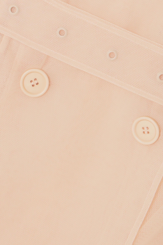 Simone Rocha Ruffled embellished tulle trench coat