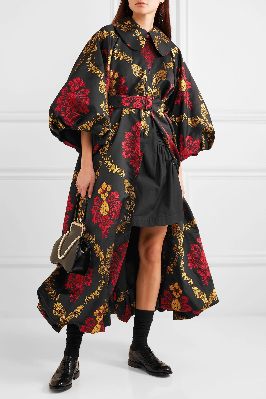 Simone Rocha Belted brocade coat