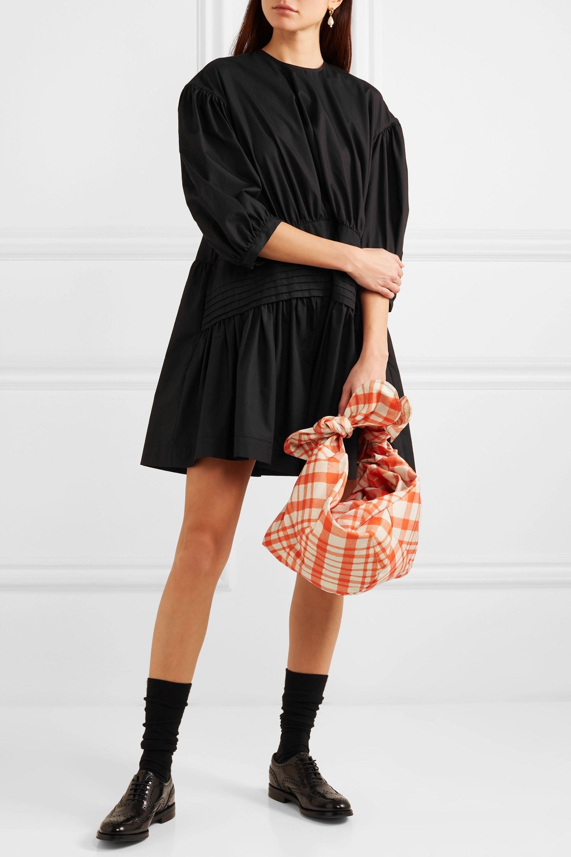Simone Rocha Pintucked cotton-poplin mini dress