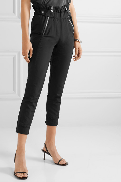 Leon shell tapered pants