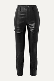 Harlan leather tapered pants