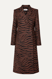 Didion animal-jacquard coat