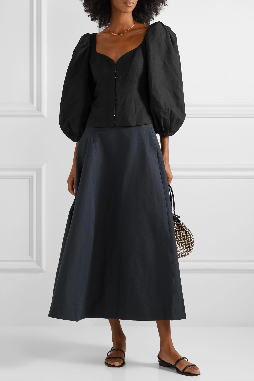 Mara Hoffman Eliana Tencel and linen-blend blouse