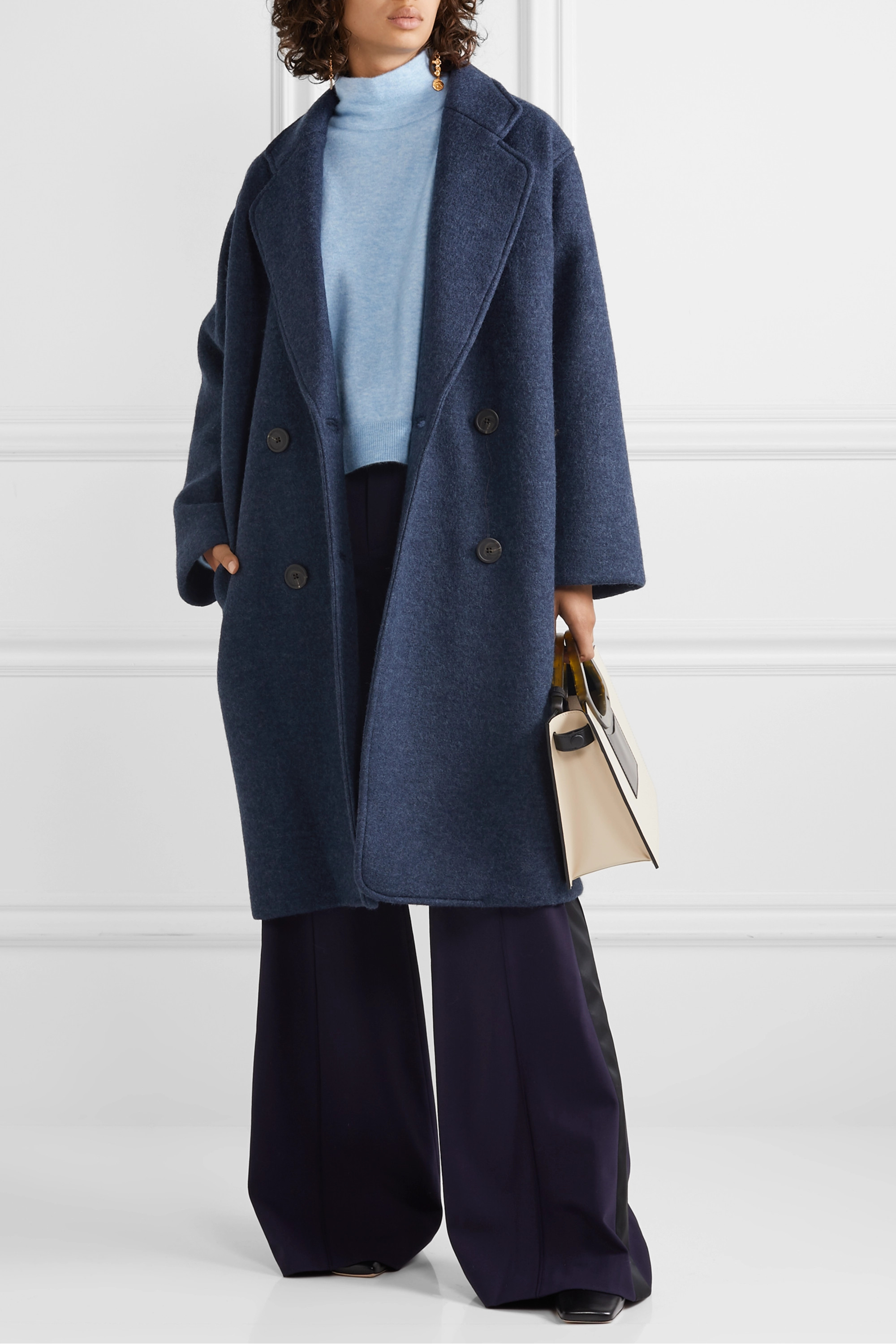 Mara Hoffman Clementine oversized double-breasted wool coat