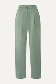 Dita Tencel and linen-blend staight-leg pants