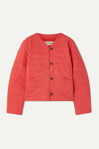 Mara Hoffman Jackets Gina quilted Tencel and organic cotton-blend jacket