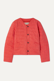 Gina quilted Tencel and organic cotton-blend jacket