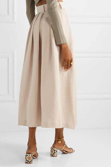 Mara Hoffman | Tulay pleated organic cotton and linen-blend