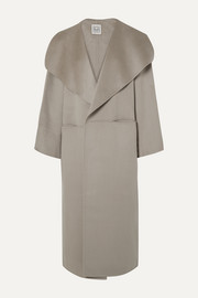 Annecy oversized wool and cashmere-blend coat