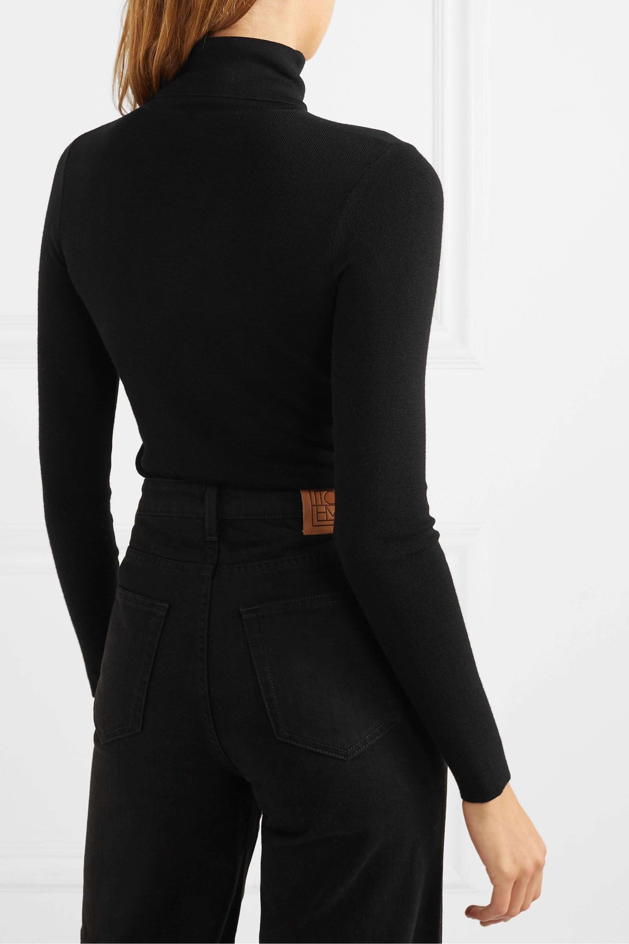 Totême Navais merino wool turtleneck top